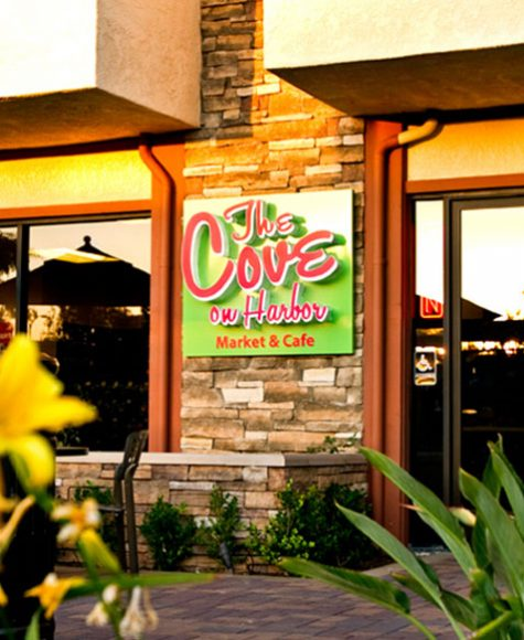 The Cove on Harbor Market & Cafe entrance