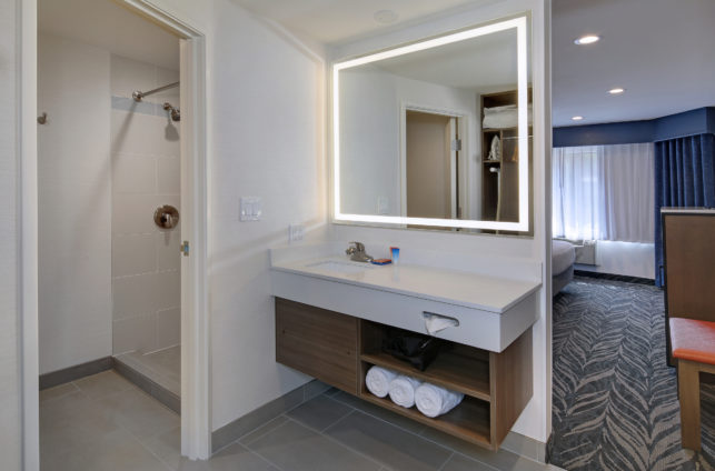 Bathroom Vanity at Tropicana Inn and Suites in Anaheim