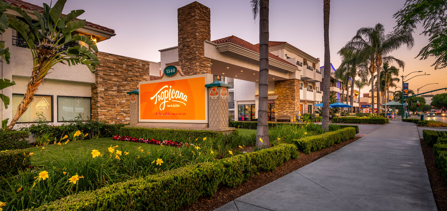 exterior of tropicana inn & suites