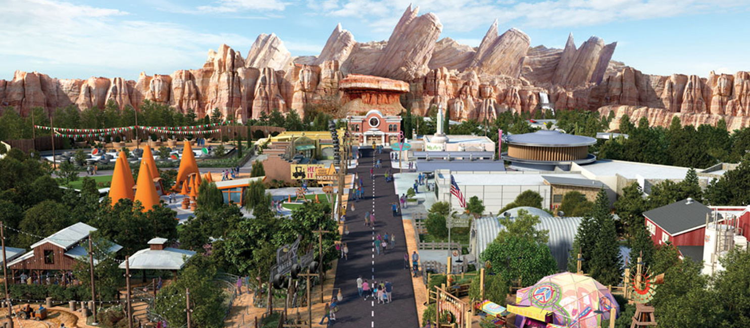 Cars Land aerial view