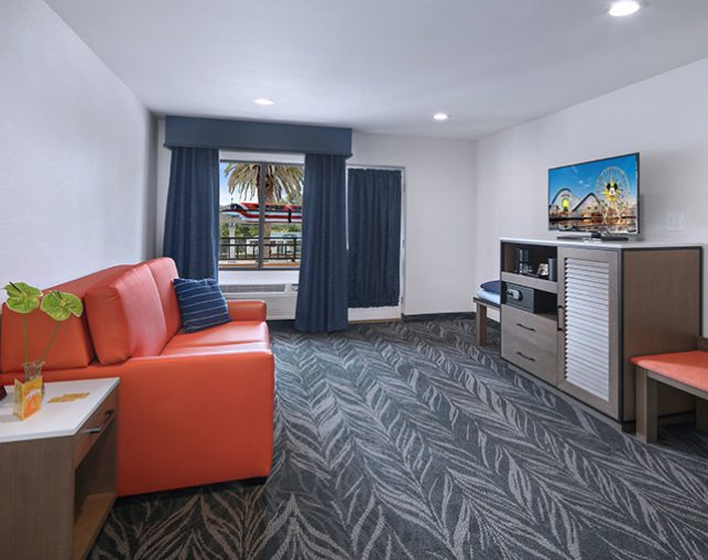 Family Suite with view of Disney Monorail through window