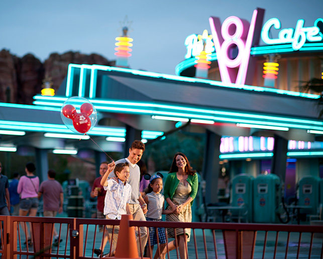 Family in Cars Land Disneyland®