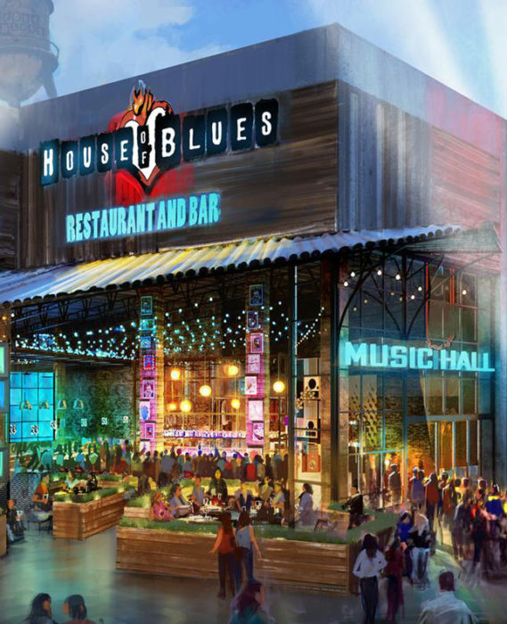 Front of House of Blues