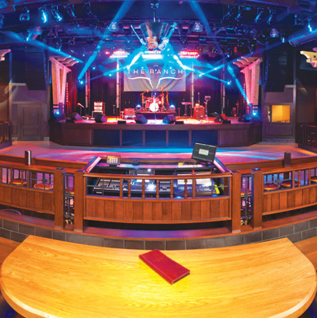 The Ranch view of stage from table