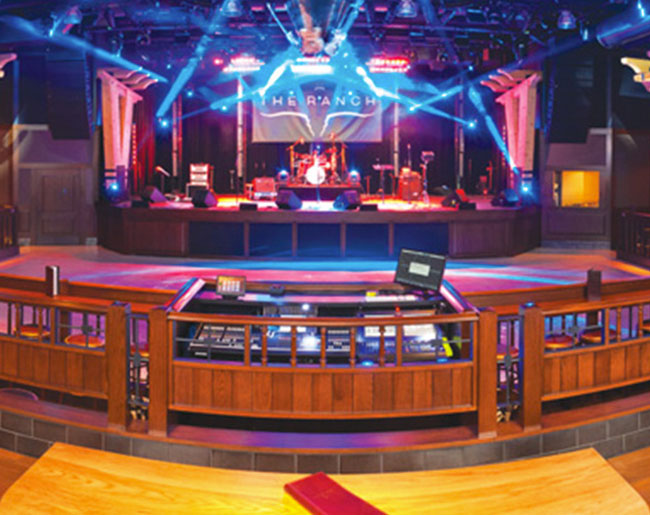 Interior of the ranch restaurant's dance floor
