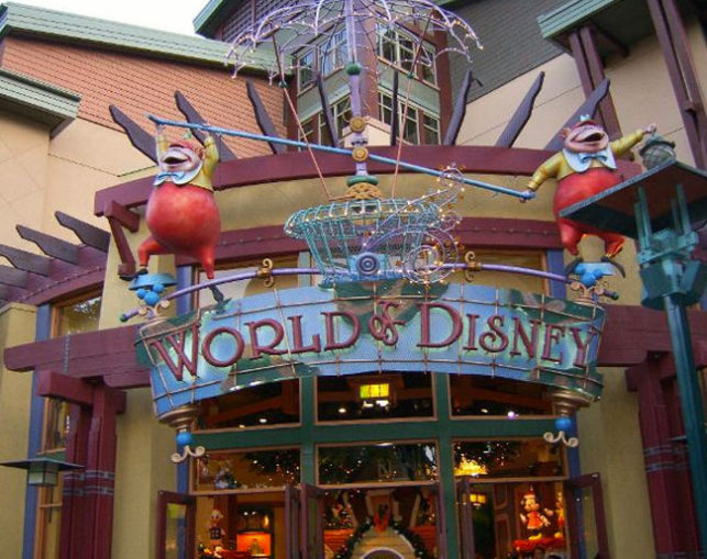 World of Disney Store Sign