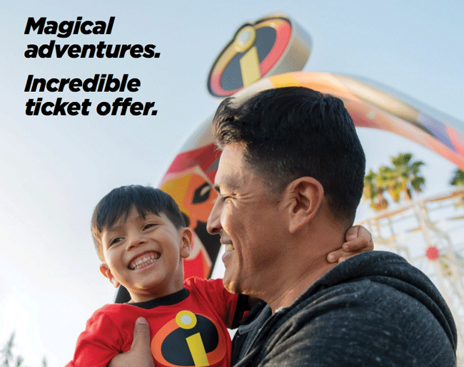 Limited Time: $70 per day at Disneyland
