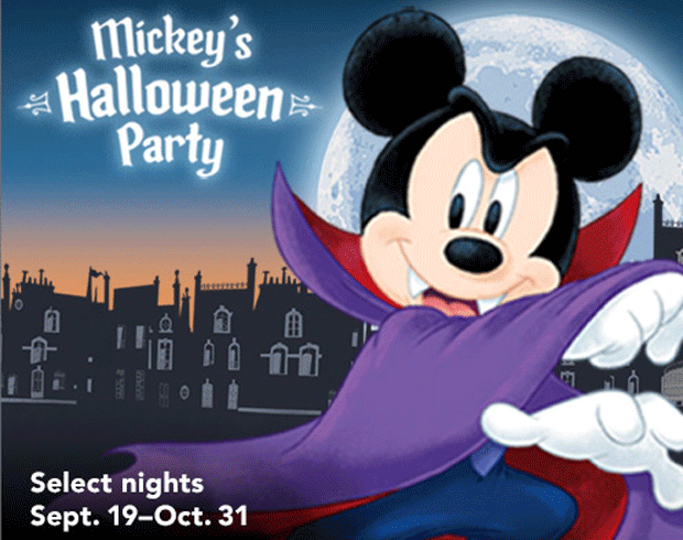 flyer for Mickey's Halloween Party at Disneyland Park