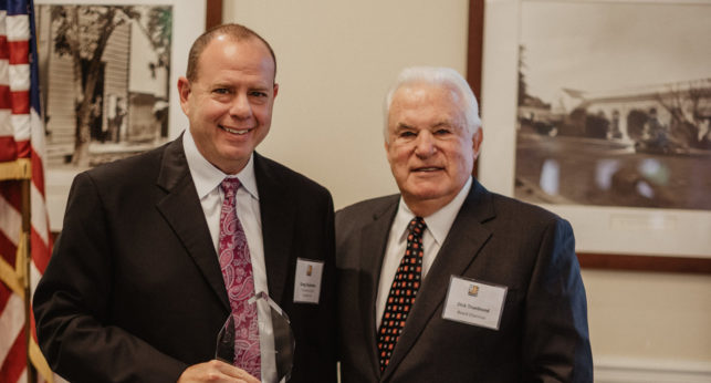 Greg Eisenman receiving 2018 Goodwill award