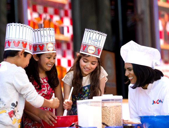 kids making treats in Disneyland Resort